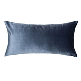 Dusk Blue Velvet Throw Pillow