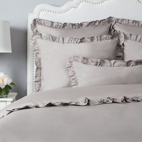 Bedroom inspiration and bedding decor | The Vienna Oyster Grey | Crane and Canopy