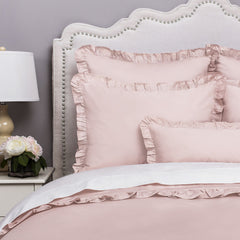 Bedroom inspiration and bedding decor | The Vienna Dust Pink | Crane and Canopy