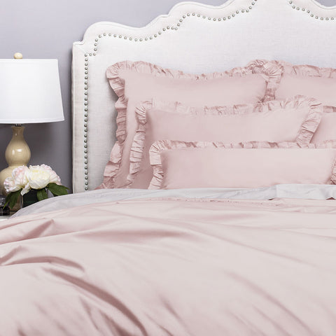 Bedroom inspiration and bedding decor | The Vienna Dust Pink Duvet Cover | Crane and Canopy