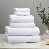Classic White Towel Essentials Bundle (2 Wash + 2 Hand + 2 Bath Towels)