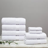 Classic White Towel Spa Bundle (2 Wash + 2 Hand + 4 Bath Towels)