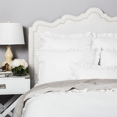 Bedroom inspiration and bedding decor | The Vienna Soft White | Crane and Canopy