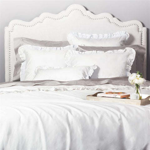 Bedroom inspiration and bedding decor | The Vienna Soft White Duvet Cover | Crane and Canopy