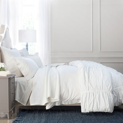 Bedroom inspiration and bedding decor | The Soft White 400 Thread Count Cotton Sheetss | Crane and Canopy
