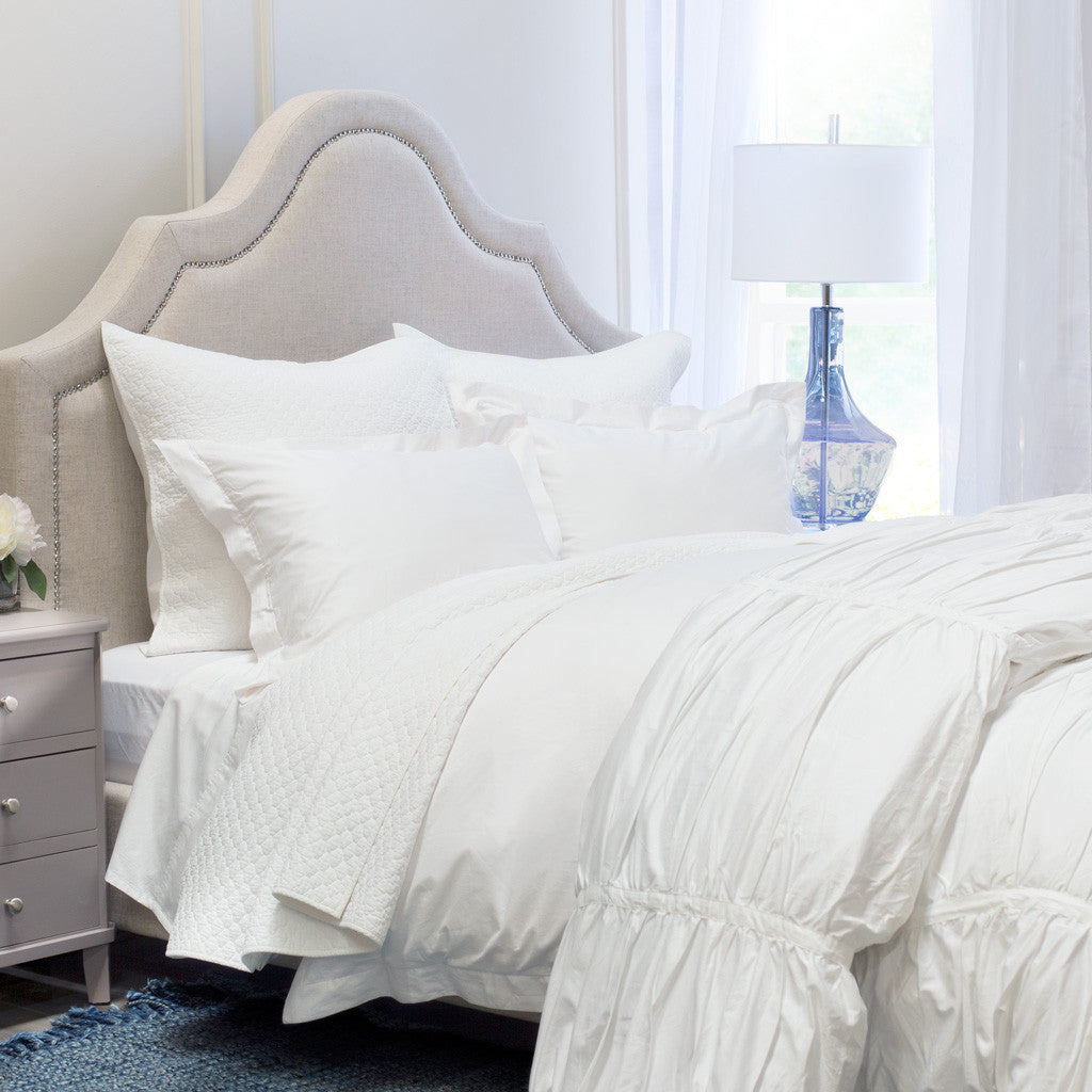 Ruched Duvet Cover | The Mirabel White | Crane \ Canopy