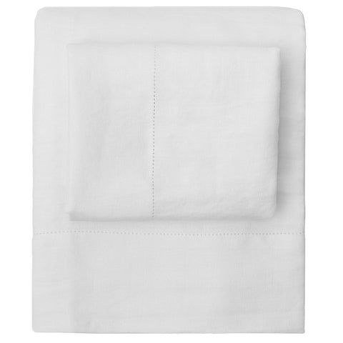 The White Belgian Linen Sheets