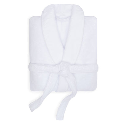 White Plush Cotton Bathrobe