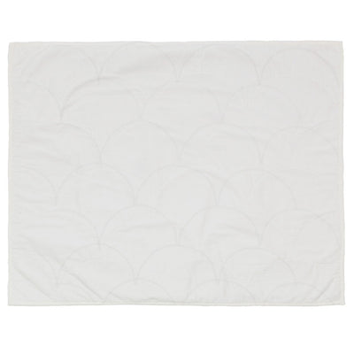 Soft White Scalloped Quilt Sham