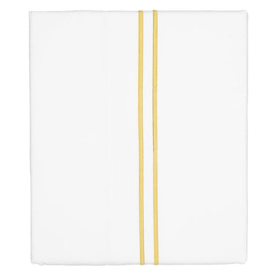 Marigold Yellow Lines Embroidered Flat Sheet