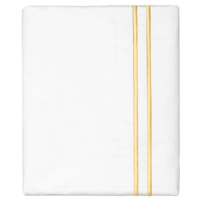 Yellow Lines Embroidered Pillow Case