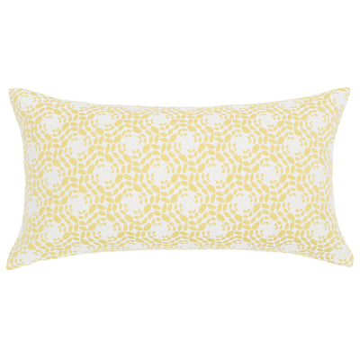 White and Yellow Blossom Throw Pillow