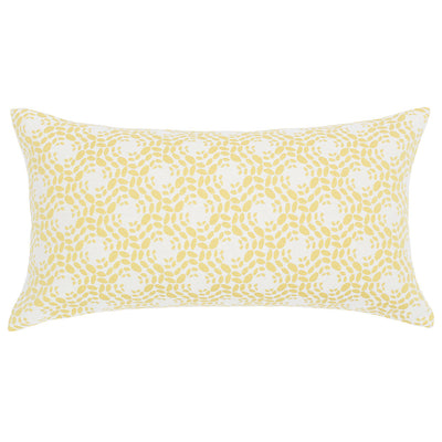 Bedroom inspiration and bedding decor | The White and Yellow Blossom Throw Pillows | Crane and Canopy