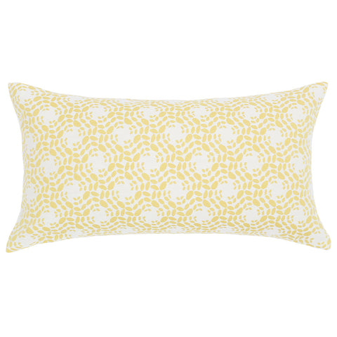 Bedroom inspiration and bedding decor | The White and Yellow Blossom Throw Pillow | Crane and Canopy