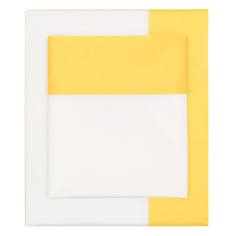 Bedroom inspiration and bedding decor | The Yellow Border Sheet Set | Crane and Canopy