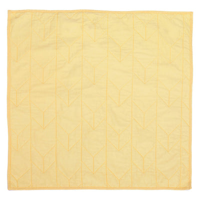 Yellow Chevron Quilt Euro Sham
