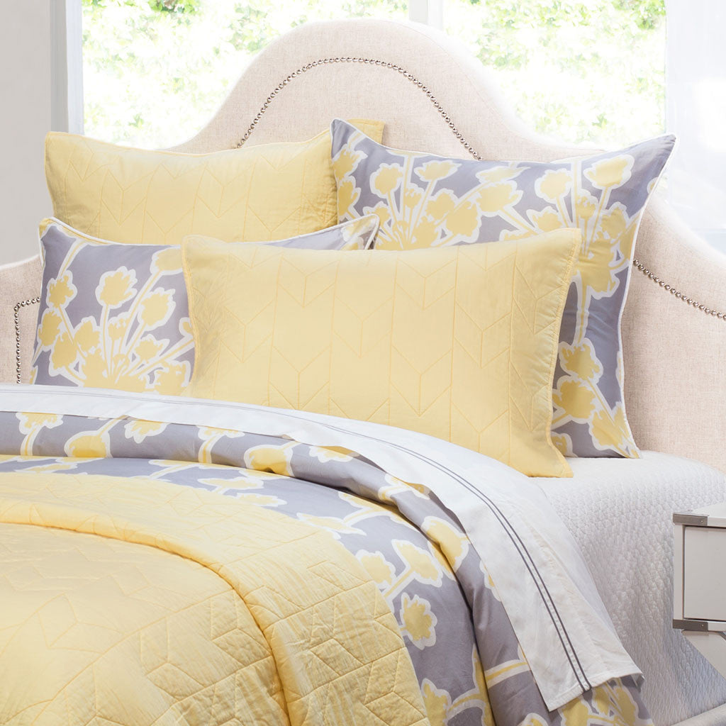 Bedroom inspiration and bedding decor | The Chevron Yellow Quilt & Sham Duvet Cover | Crane and Canopy