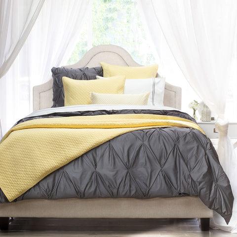 Bedroom inspiration and bedding decor | The Cloud Yellow Quilt & Sham Duvet Cover | Crane and Canopy