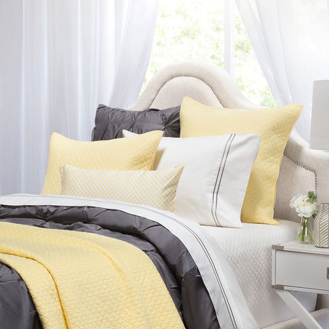 Bedroom inspiration and bedding decor | The Cloud Yellow Quilt & Sham | Crane and Canopy