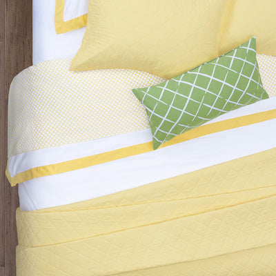 Bedroom inspiration and bedding decor | The Diamond Yellow Quilt & Sham Duvet Cover | Crane and Canopy