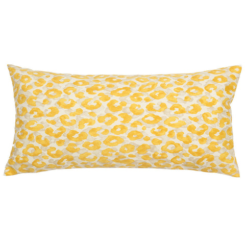 The Marigold Leopard Throw Pillow