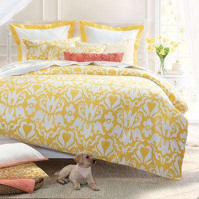 Bedroom inspiration and bedding decor | The Montgomery Yellow Duvet Cover | Crane and Canopy