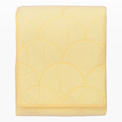 Yellow Scalloped Quilt