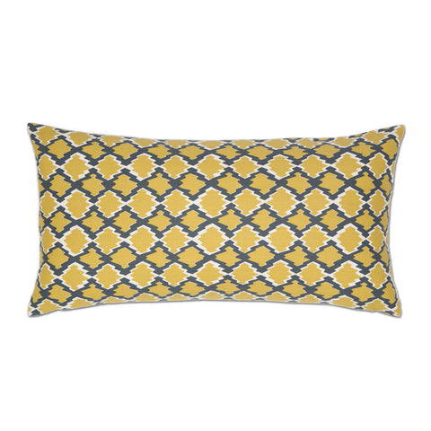 The Yellow and Gray Diamonds Throw Pillow