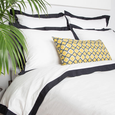 Bedroom inspiration and bedding decor | The Yellow and Gray Diamonds Throw Pillows | Crane and Canopy
