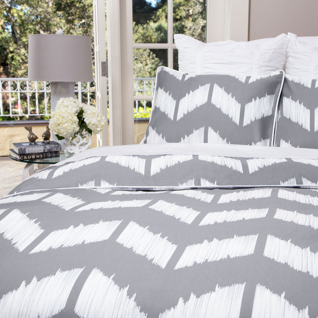 patterned duvet covers  modern duvet covers  crane  canopy - bedroom inspiration and bedding decor  the addison gray duvet cover crane and canopy