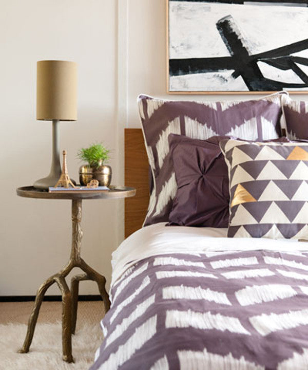 Crane and Canopy Designer Bedding as seen in Monogram Decor