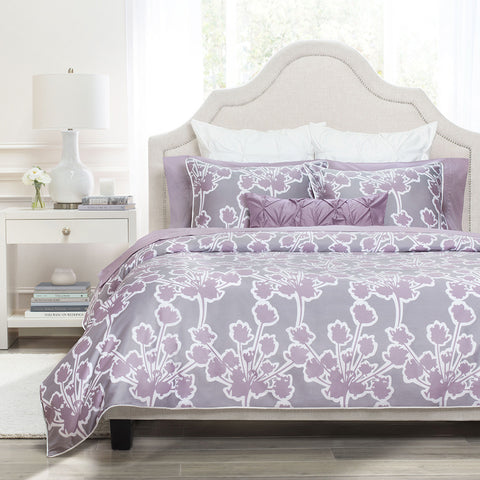 Bedroom inspiration and bedding decor | The Ashbury Lilac Duvet Cover | Crane and Canopy
