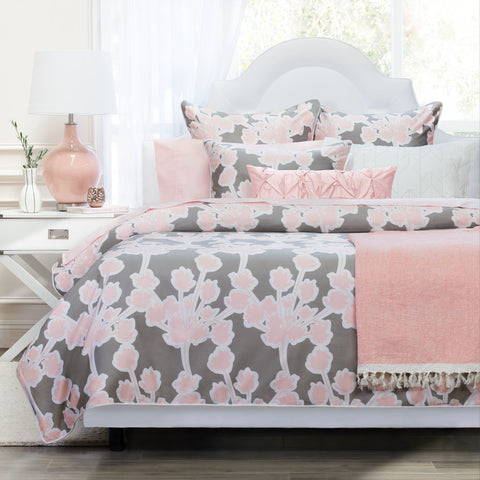 Bedroom inspiration and bedding decor | The Pink Pintuck Throw Pillows | Crane and Canopy