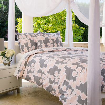 Floral Duvet Cover The Ashbury Pink Crane Amp Canopy
