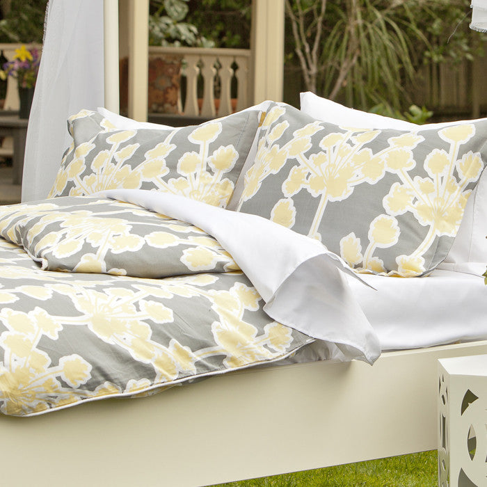 Bedroom inspiration and bedding decor | Spring Yellow Ashbury Sham Duvet Cover | Crane and Canopy