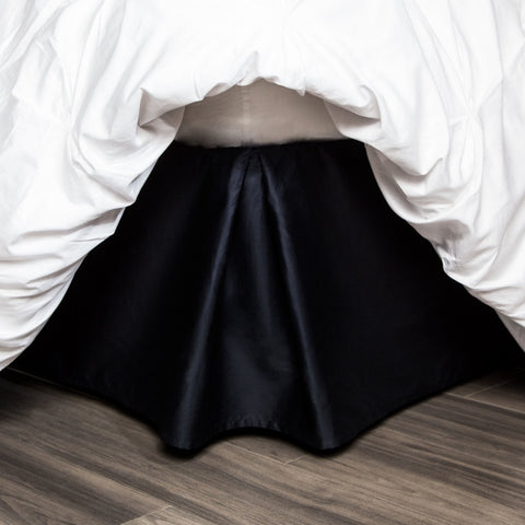 Black Pleated Bed Skirt