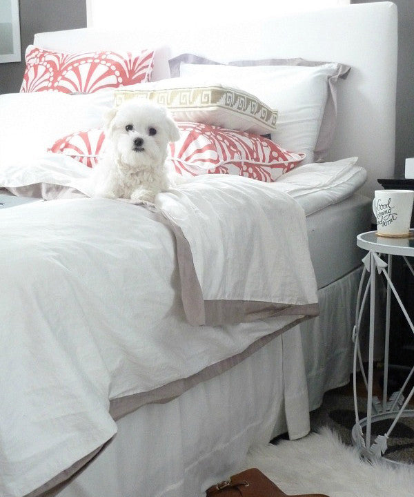 Crane and Canopy Designer Bedding as seen in Bliss at Home