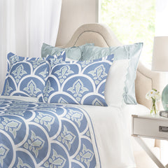 Bedroom inspiration and bedding decor | The Clementina Blue | Crane and Canopy