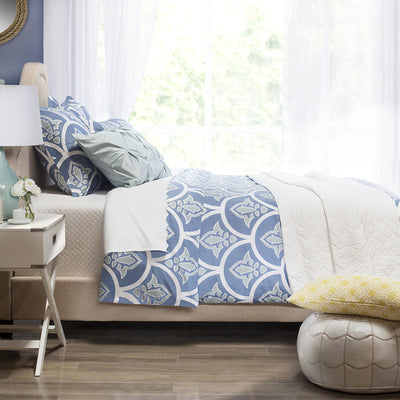 Bedroom inspiration and bedding decor | The Clementina Blue Duvet Cover | Crane and Canopy