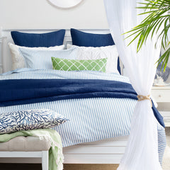 Bedroom inspiration and bedding decor | The Larkin Blue | Crane and Canopy