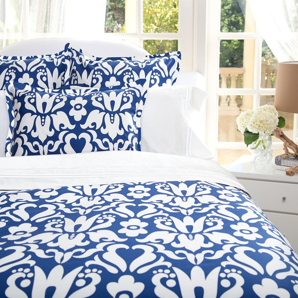 Bedroom inspiration and bedding decor | Cobalt Blue Montgomery Duvet Cover Duvet Cover | Crane and Canopy