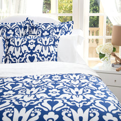 Bedroom inspiration and bedding decor | The Montgomery Cobalt Blue | Crane and Canopy