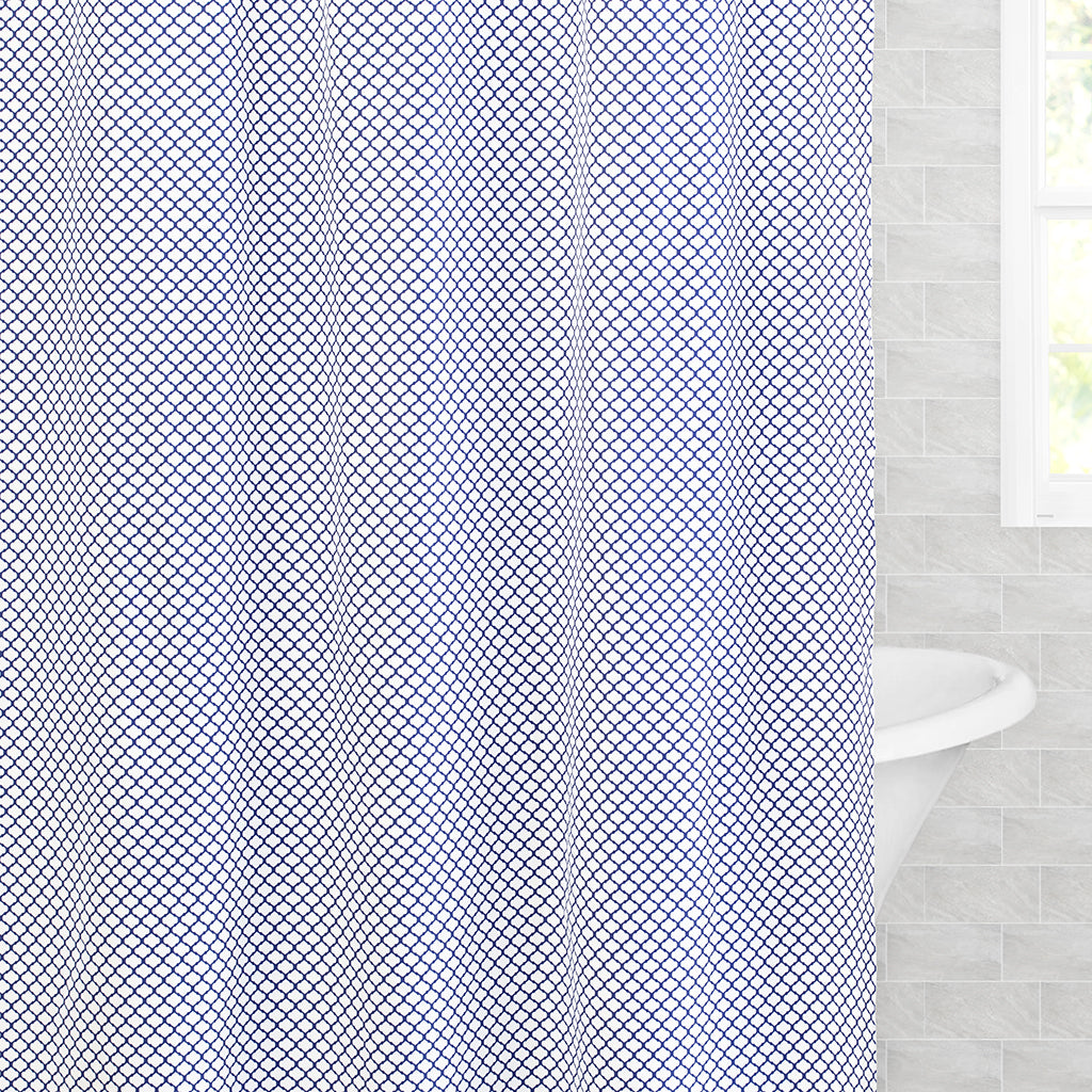 Bedroom inspiration and bedding decor | The Blue Cloud Shower Curtain Duvet Cover | Crane and Canopy