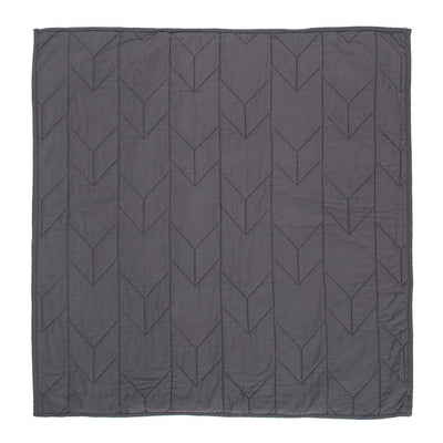Charcoal Grey Chevron Quilt Euro Sham