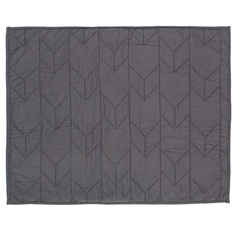 Charcoal Grey Chevron Quilt Sham