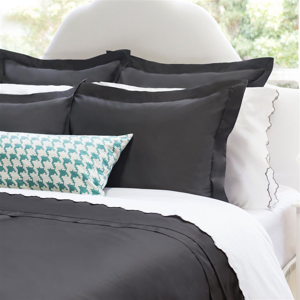 Bedroom inspiration and bedding decor | The Peninsula Charcoal Grey Duvet Cover | Crane and Canopy & Solid Grey Duvet Cover | Peninsula Charcoal Grey | Crane u0026 Canopy