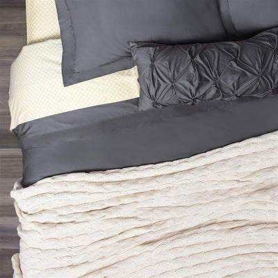 Bedroom inspiration and bedding decor | The Peninsula Charcoal Grey Duvet Cover | Crane and Canopy
