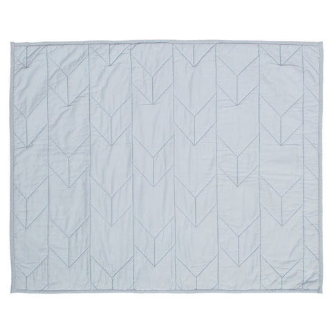 Light Blue Chevron Quilt Sham
