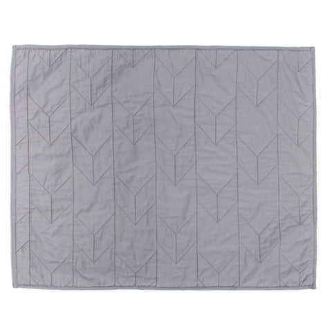 Light Grey Chevron Quilt Sham