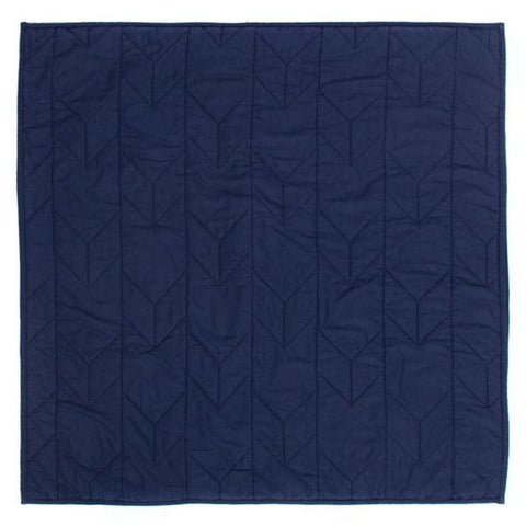 navy cotton quilt and sham chevron navy blue crane canopy. Black Bedroom Furniture Sets. Home Design Ideas